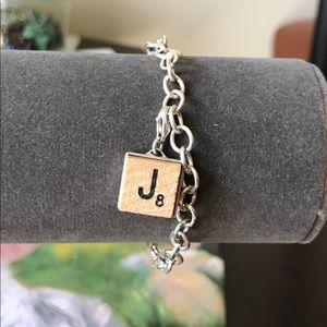 Jewelry - Sterling Silver Scrabble Tile Charm Bracelet
